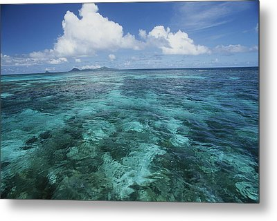 Shallow Blue Water Stretches Metal Print by Michael Melford