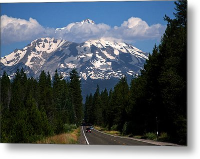 Shasta On The Road Again Metal Print by BuffaloWorks Photography