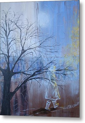 Metal Print featuring the painting She Is Here by Susan Fisher
