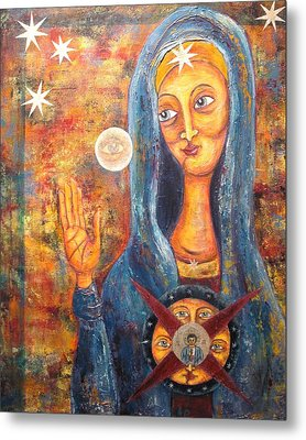 She Sees And Blesses All Metal Print by Suzan  Sommers