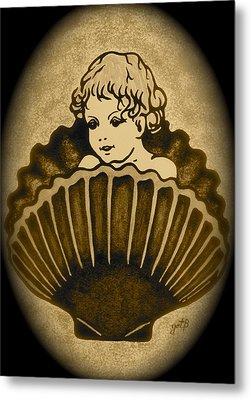 Shell With Child 2 Metal Print by Georgeta  Blanaru