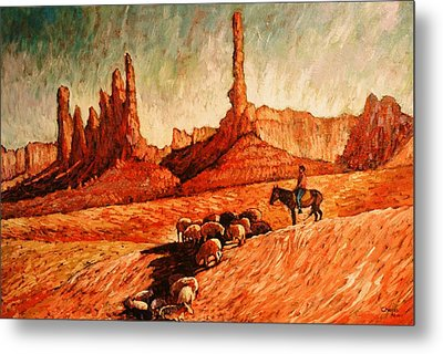 Metal Print featuring the painting Sheppard by Charles Munn