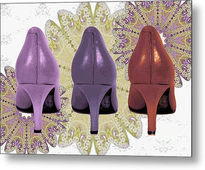 Shoes In Muted Shades Metal Print by Maralaina Holliday