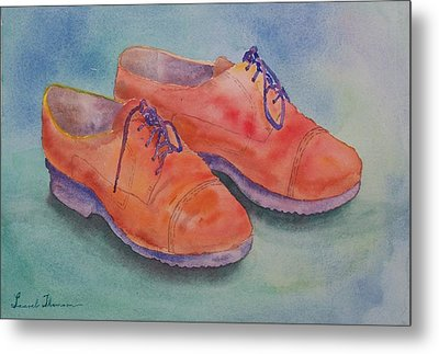 Shoes Of A Different Colour Metal Print by Laurel Thomson