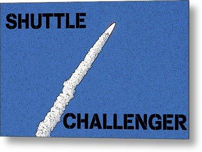 Shuttle Challenger  Metal Print by David Lee Thompson