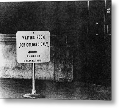 Sign Reading Waiting Room For Colored Metal Print
