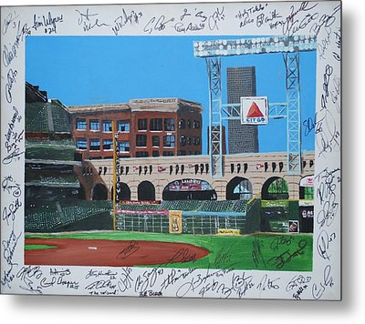 Signed Minute Maid Metal Print