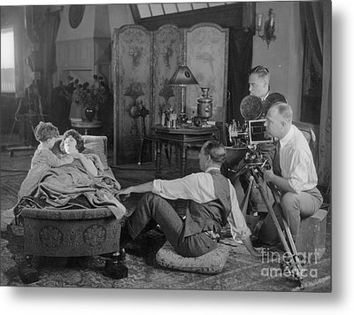 Silent Film Set, 1920s Metal Print by Granger