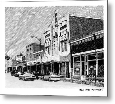 Silver City New Mexico Metal Print by Jack Pumphrey
