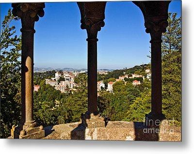 Sintra Balcony Metal Print by Carlos Caetano