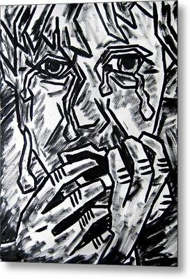 Sketch - Weeping Child Metal Print by Kamil Swiatek