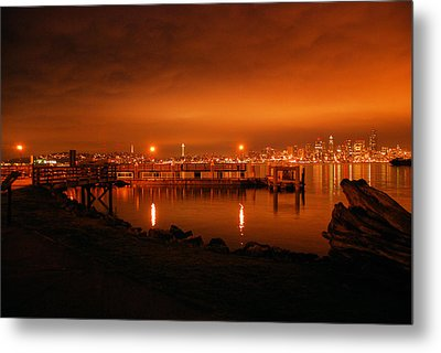 Skies On Fire Metal Print