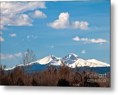 Snow-capped Mountain Majesties Metal Print by Harry Strharsky