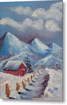 Snow Path Metal Print by Peggy King