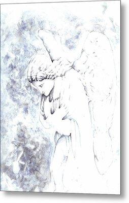 Solace Angel Metal Print by Lisa Buchanan