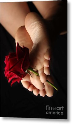 Sole Rose Metal Print by Tos Photos