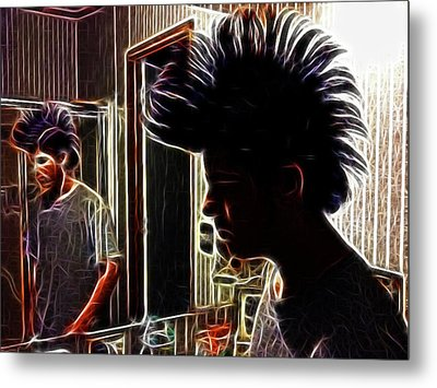Son With Mohawk Metal Print by Lisa Stanley