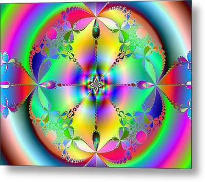Metal Print featuring the digital art Song Of India by Ann Peck