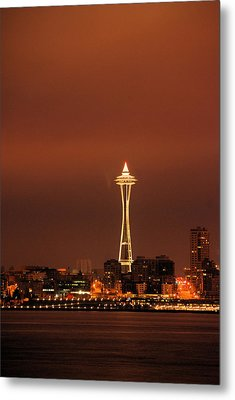 Space Needle Morning Metal Print