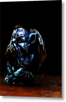 Speak No Evil Gargoyle Metal Print