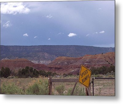Metal Print featuring the photograph Speed Bumps Nb by Susan Alvaro