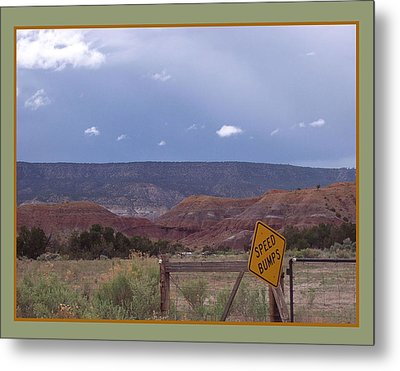 Speed Bumps Metal Print by Susan Alvaro