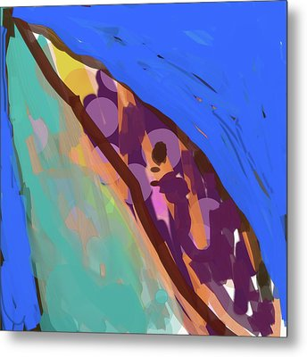 Splotchy Dolphin Greets The Day Metal Print