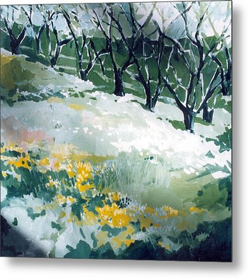 Metal Print featuring the painting Spring by Andrew Drozdowicz