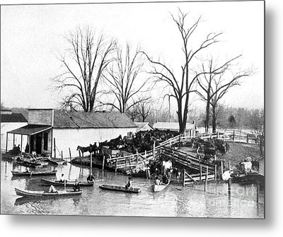 Spring Flood, 1903 Metal Print by Science Source