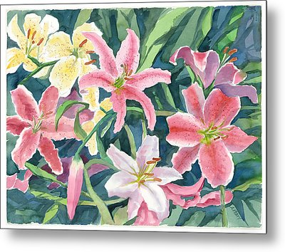Spring Lilies Metal Print