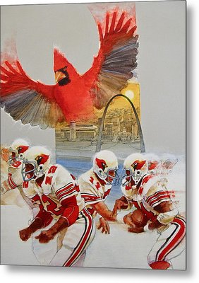 St Louis Cardinals1980 Game Day Cover And Media Guide Cover Metal Print by Cliff Spohn