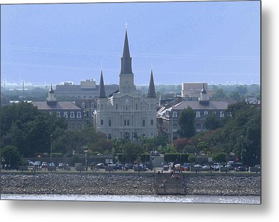 St. Louis Cathedral 2 Metal Print by Diane Ferguson