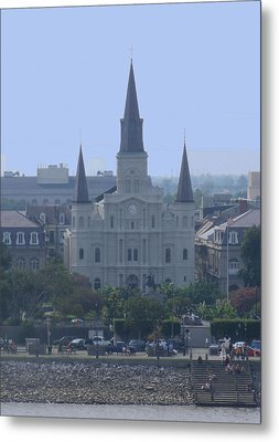 St. Louis Cathedral Metal Print by Diane Ferguson