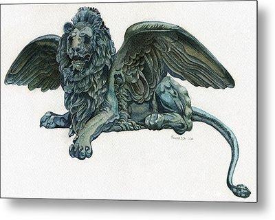 St. Mark's Lion Metal Print by Francesca Zambon