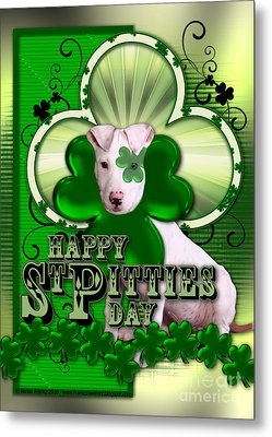 St Patricks - Happy St Pitties Day Metal Print by Renae Laughner