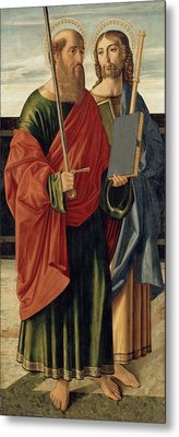 St. Paul And St. James The Elder Metal Print by Cristoforo Caselli