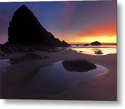 Stacked Reflections Metal Print by Mike  Dawson