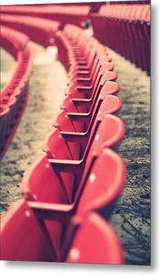 Stadium Seating Metal Print
