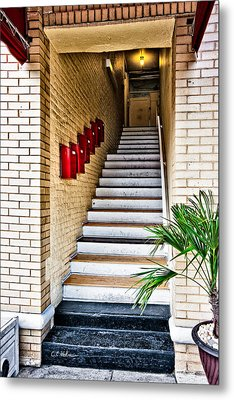 Stairway Metal Print by Christopher Holmes