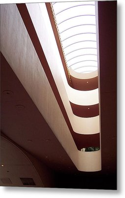 Stairwell At The Marin Civic Metal Print
