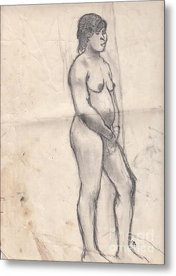 Standing Nude Metal Print by Brian Francis Smith