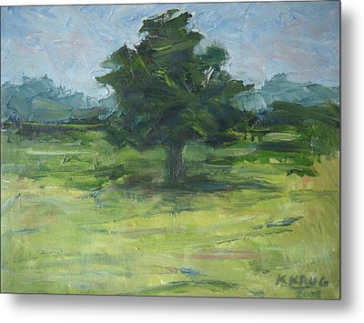 Standing Tree Metal Print by Ken Krug