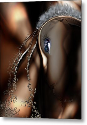 Stare Back Metal Print by Steve Sperry