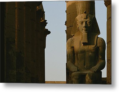 Statue Of Ramses II In The Luxor Temple Metal Print by Kenneth Garrett