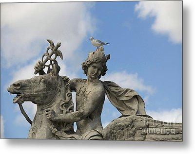 Statue . Place De La Concorde. Paris. France Metal Print by Bernard Jaubert