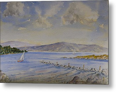 Metal Print featuring the painting Steady Wind by Rob Hemphill