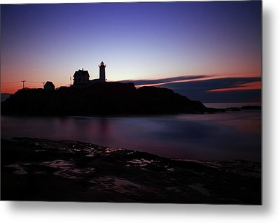 Still Dawn Cape Neddick Metal Print by Rick Berk
