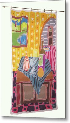 Still Life With Pear Metal Print by Rollin Kocsis