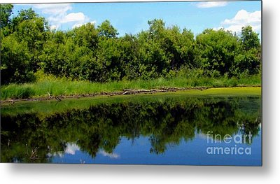Metal Print featuring the photograph Still Water by Jim Sauchyn