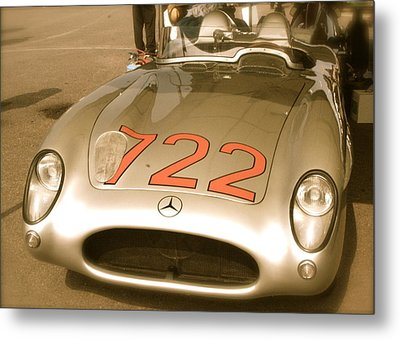 Metal Print featuring the photograph Stirling Moss 1955 Mille Miglia 722 Mercedes by John Colley